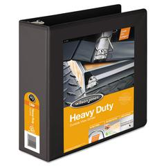 "Heavy-Duty D-Ring View Binder w/Extra-Durable Hinge, 3"" Cap, Black"
