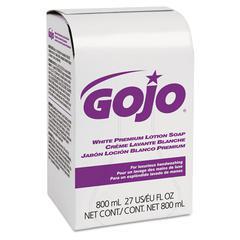 White Premium Lotion Soap, Spring Rain Scent, 800 ml Refill, 12/Carton