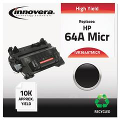 Remanufactured CC364A(M) (64AM) High-Yield MICR Toner, Black