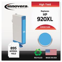 Remanufactured CD972AN (920XL) High-Yield Chipped Ink, Cyan