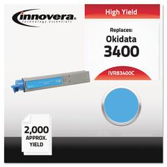 Innovera Compatible 43459403 (C3400N) High-Yield Toner, Cyan
