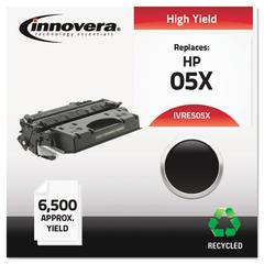 Innovera Remanufactured CE505X (05X) High-Yield Toner, Black