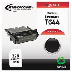 Remanufactured 64415XA (T644) High-Yield Toner, Black