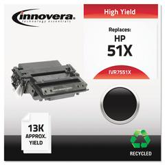 Remanufactured Q7551X (51X) High-Yield Toner, Black