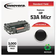 Innovera Remanufactured Q7553A(M) (53AM) MICR Toner, Black
