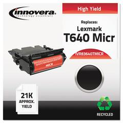 Innovera Remanufactured 64015HA(M) (T640M) High-Yield MICR Toner, Black