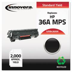 Remanufactured CB436A(M) (36AM) MICR Toner, Black