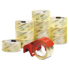 "3750 Commercial Performance Packaging Tape, 1.88"" x 54.6yds, Clear, 12/Pack"