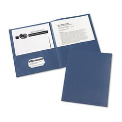 Avery Two-Pocket Folder, 20-Sheet Capacity, Dark Blue, 25/Box