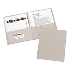 Avery Two-Pocket Folder, 20-Sheet Capacity, Gray, 25/Box