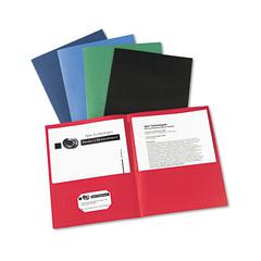 Avery Two-Pocket Folder, 20-Sheet Capacity, Assorted Colors, 25/Box