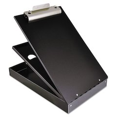 "Cruiser Mate Aluminum Storage Clipboard, 1 1/2"" Clip, 8 1/2 x 12 Sheets, Black"