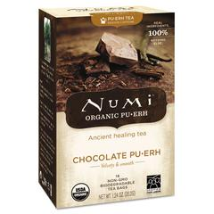 Numi Organic Tea, Chocolate Puerh, 16/Box