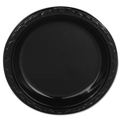 "Silhouette Plastic Plates, 9"" Black, 400/Carton"