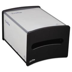 EasyNap Countertop Napkin Dispenser, M-Window, 9 1/4w x 13 5/8d x 7 1/4h, Black