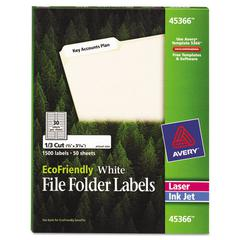 EcoFriendly File Folder Labels, 2/3 x 3 7/16, White, 1500/Pack