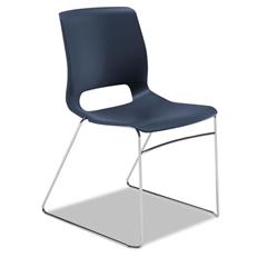 HON Motivate Seating High-Density Stacking Chair, Regatta/Chrome, 4/Carton