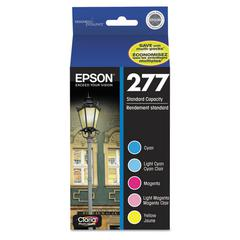 Epson T277920 (277) Claria Ink, Cyan/Light Cyan/Light Magenta/Magenta/Yellow