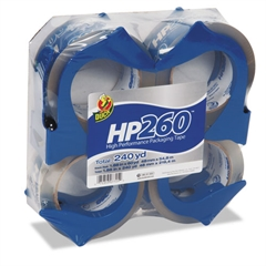 "HP260 Packaging Tape w/Dispenser, 1.88"" x 60yds, 3"" Core, 4/Pack"