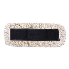 Disposable Dust Mop Head w/Sewn Center Fringe, Cotton/Synthetic, 36w x 5d, White
