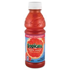 Tropicana 100% Juice, Ruby Red Grapefruit, 10oz Bottle, 24/Carton