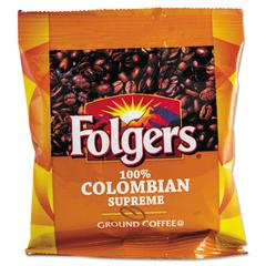 Coffee, 100% Colombian, Ground, 1.75oz Fraction Pack, 42/Carton