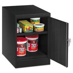 """Tennsco 30"""" High Single Door Cabinet, 19w x 24d x 30h, Black"""