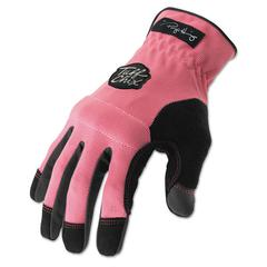 Tuff Chix Women's Gloves, Pink/Black, Large