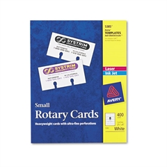 Avery Small Rotary Cards, Laser/Inkjet, 2 1/6 x 4, 8 Cards/Sheet, 400 Cards/Box