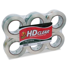 """Heavy-Duty Carton Packaging Tape, 1.88"""" x 110 yards, Clear, 6/Pack"""