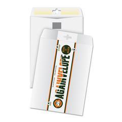 Againvelope Envelope, Reusable, 6 x 9, White