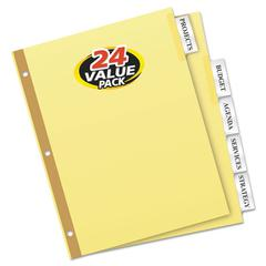 Insertable Big Tab Dividers, 5-Tab, Letter, 24 Sets