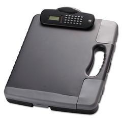 Portable Storage Clipboard Case w/Calculator, 11 3/4 x 14 1/2, Charcoal