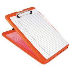"Saunders SlimMate Storage Clipboard, 1/2"" Clip Cap, 8 1/2 x 11 Sheets, Hi-Vis Orange"