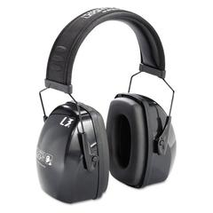 Leightning L3 Noise-Blocking Earmuffs, 30NRR, Black/Gray