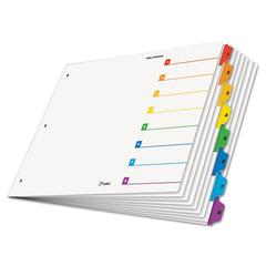 OneStep Printable Table of Contents Dividers, 8-Tab, 11 x 17, Multicolor Tabs