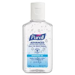 PURELL Advanced Instant Hand Sanitizer Gel, 1 oz Bottle, Lemon Scent, 250/Case
