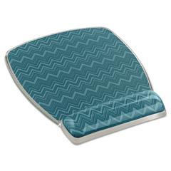 3M Fun Design Clear Gel Mouse Pad Wrist Rest, 6 4/5 x 8 3/5 x 3/4, Chevron Design