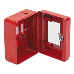 FireKing Hercules Emergency Safe, Steel, 0.05 ft3, 4-3/4w x 6d x 3h, Red
