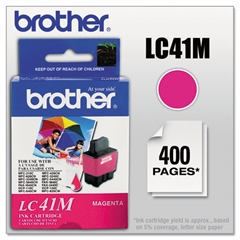 Brother LC41M Ink, Magenta