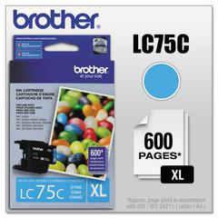 Brother LC75C Innobella High-Yield Ink, Cyan
