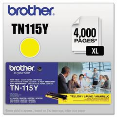 Brother TN115Y High-Yield Toner, Yellow