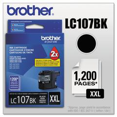 Brother LC107BK Innobella Super High-Yield Ink, Black