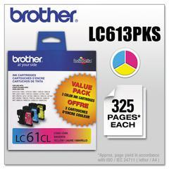 Brother LC613PKS Innobella Ink, Cyan/Magenta/Yellow, 3/PK
