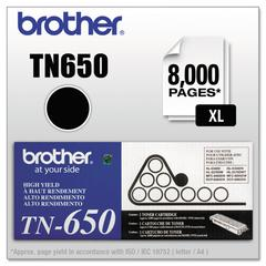 Brother TN650 High-Yield Toner, Black