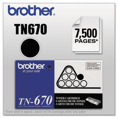 Brother TN670 High-Yield Toner, Black