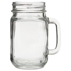 "Glass Mugs and Tankards, Drink Jar, 16.5oz, 5 1/4"" Tall, 12/Carton"