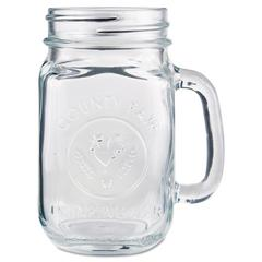 Libbey Glass Drinking Jar, 16 1/2 Ounces, Clear, 12/Carton