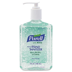 PURELL Advanced Instant Hand Sanitizer Gel, Fresh Scent, 8 oz Bottle, 12/Carton