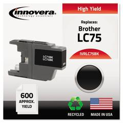 Innovera Remanufactured LC75BK High-Yield Ink, Black